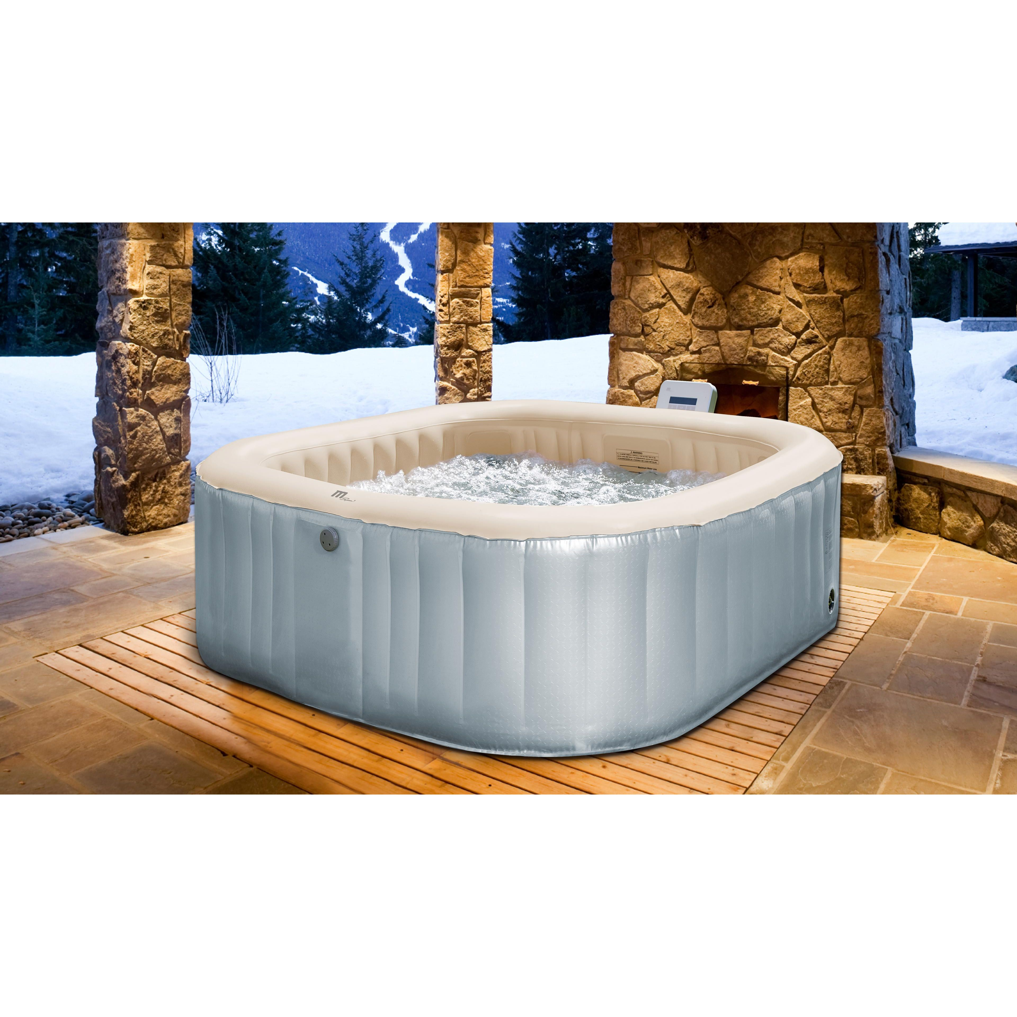 Spa gonflable 6 places jacuzzi gonflable - Meuble spa gonflable ...