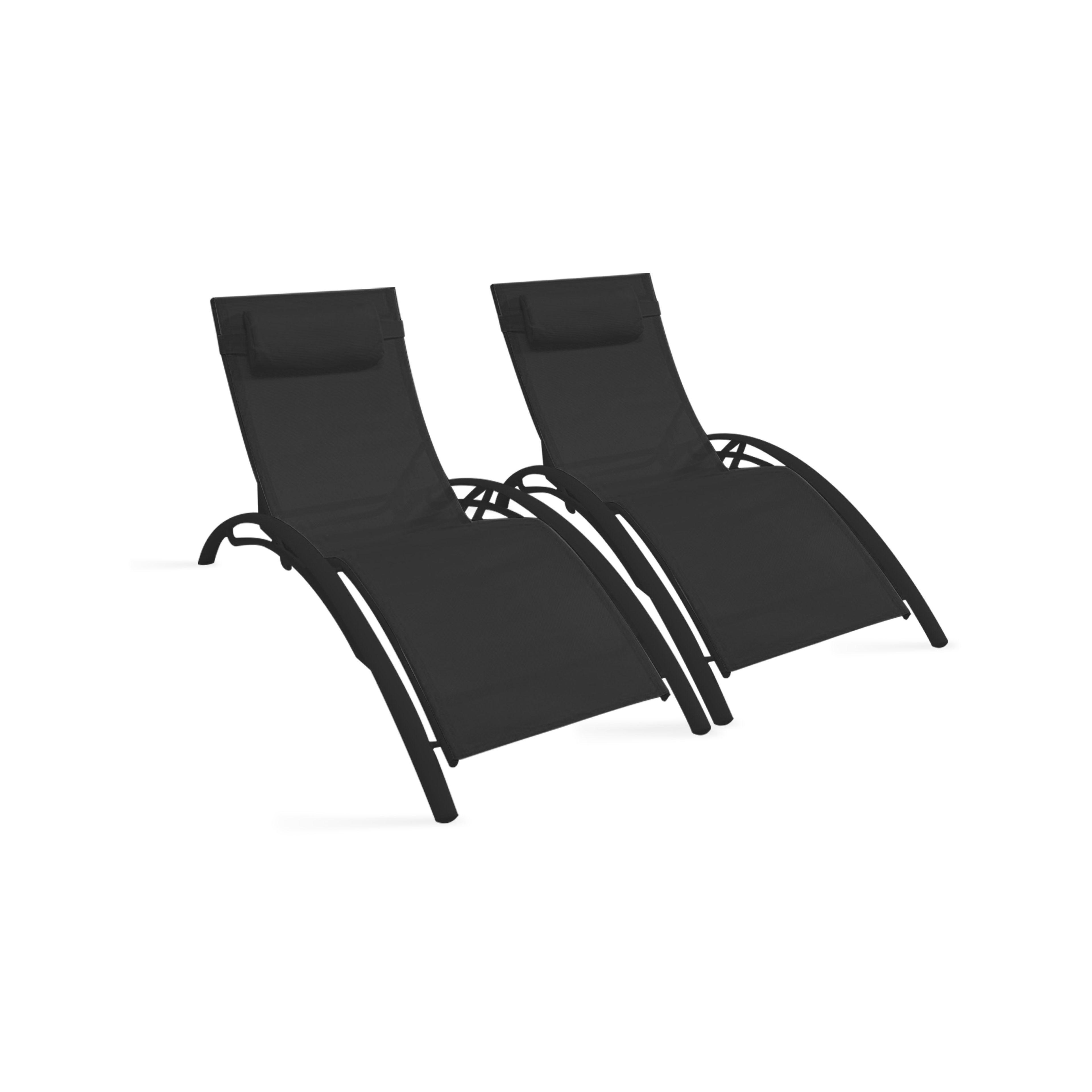 bains de soleil en aluminium et textil ne ebay. Black Bedroom Furniture Sets. Home Design Ideas