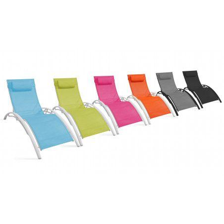 Bains de soleil et chaises longues