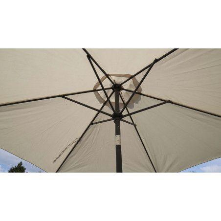 Parasol 3 m aluminium octogonal