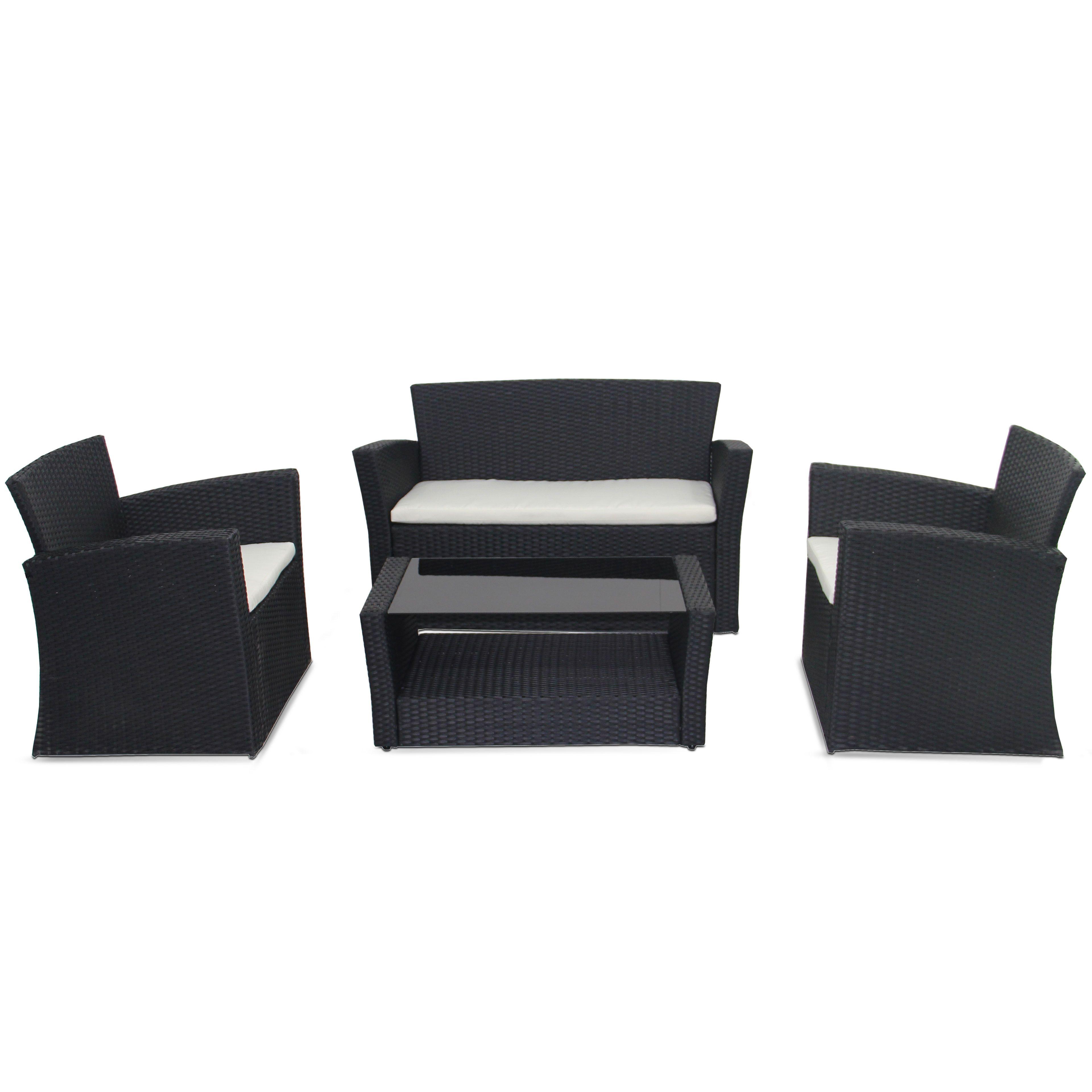 salon de jardin 4 places en r sine. Black Bedroom Furniture Sets. Home Design Ideas