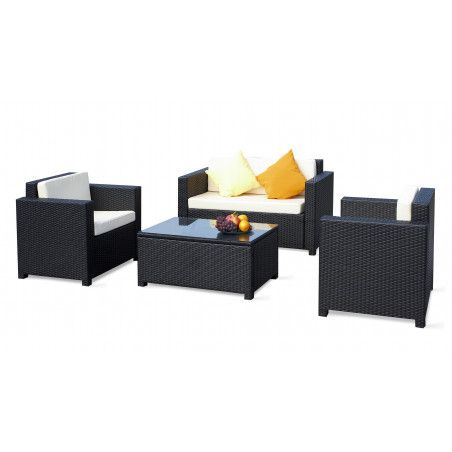salon de jardin pas cher en r sine 4 places. Black Bedroom Furniture Sets. Home Design Ideas