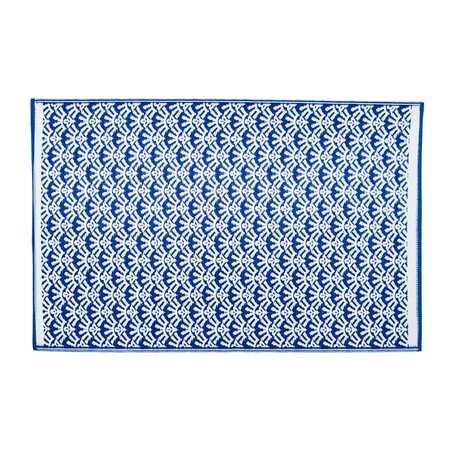 Tapis extérieur PVC bleu