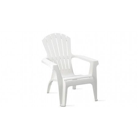 Fauteuil de jardin en plastique blanc