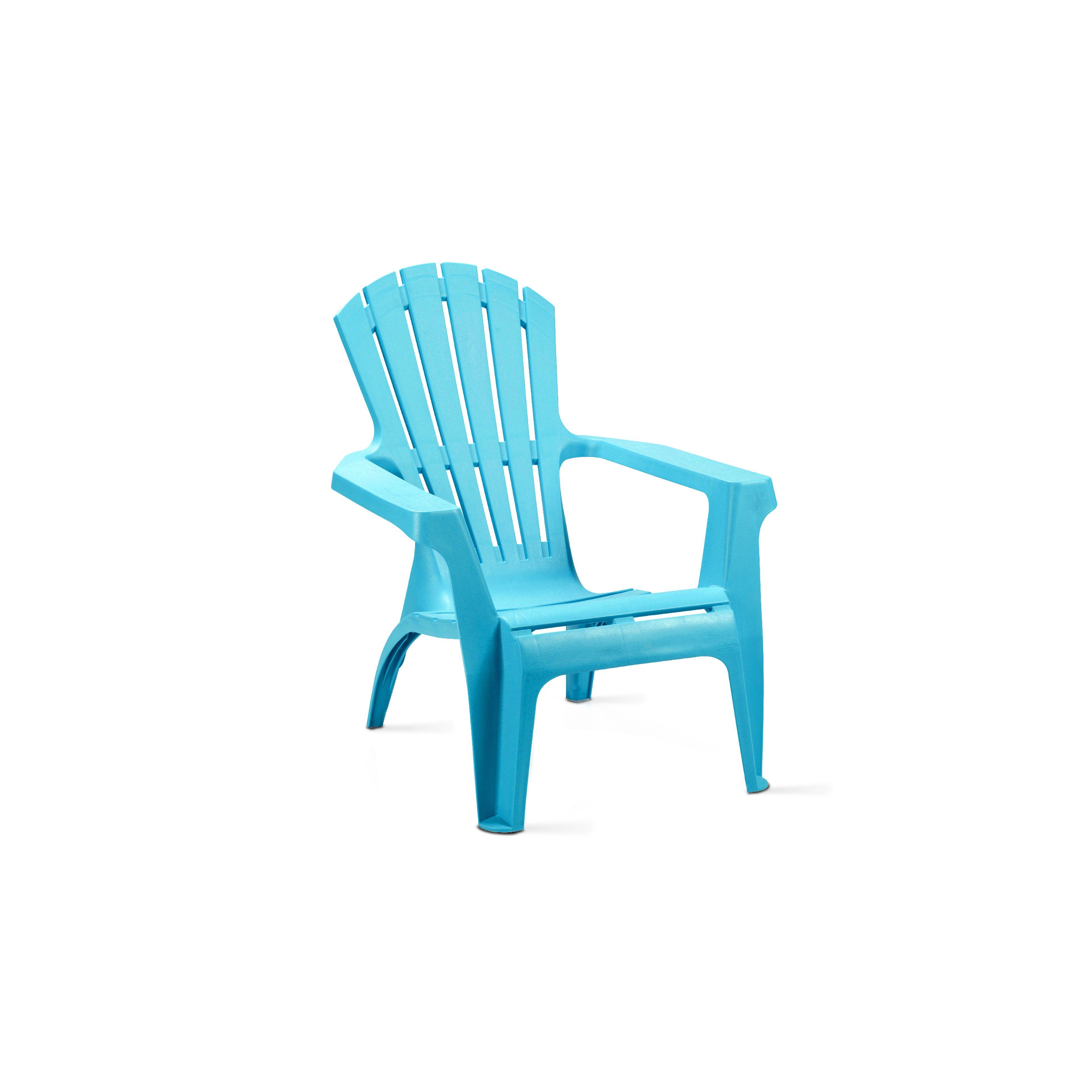 Fauteuil De Jardin En Plastique Bleu