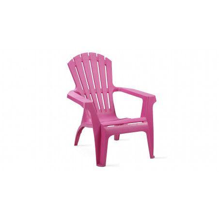 Fauteuil de jardin en plastique rose