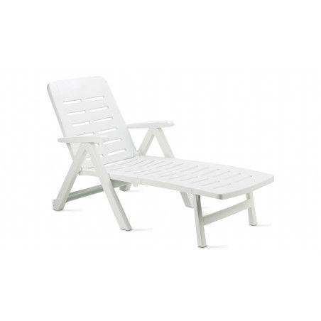 Bain de soleil en plastique blanc
