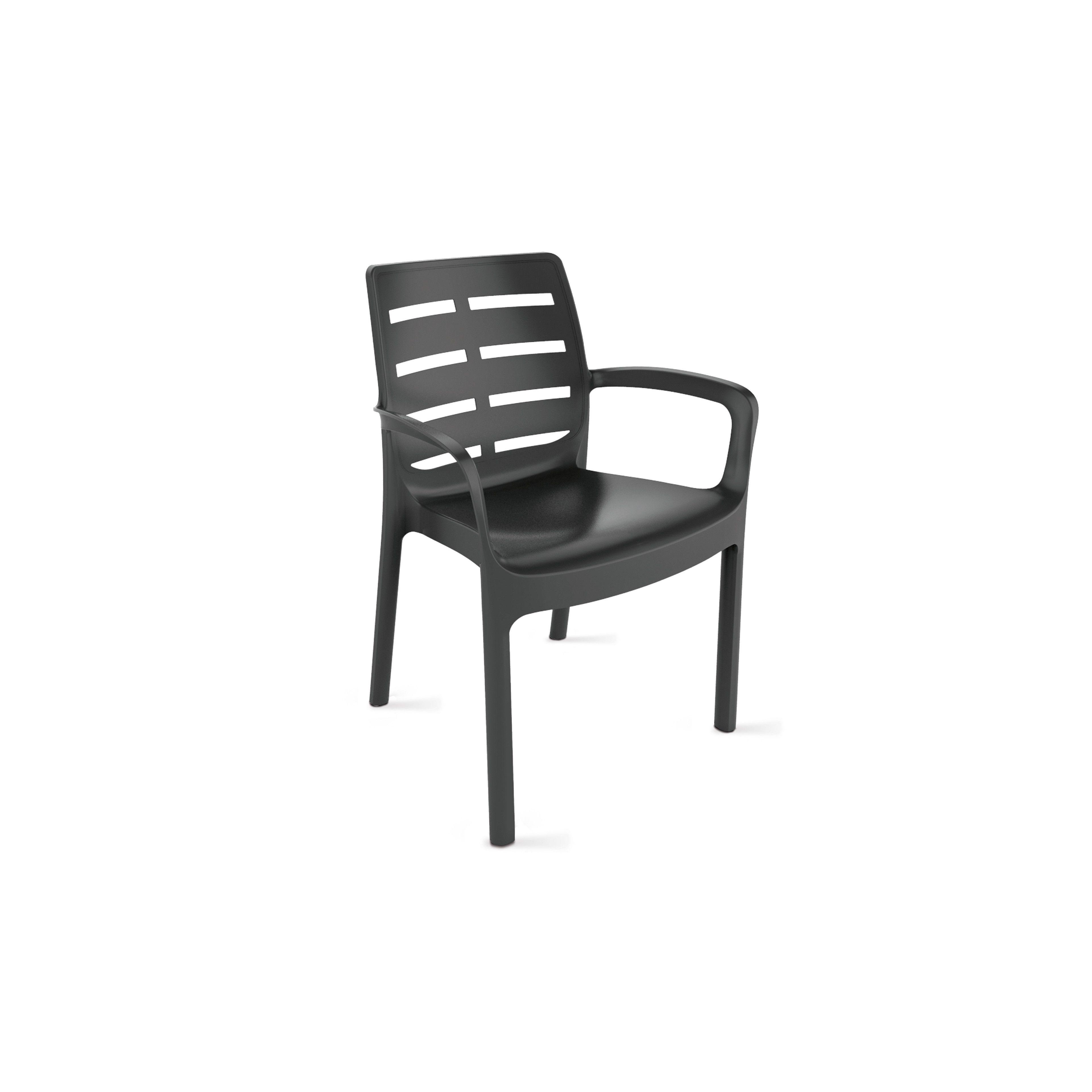 fauteuil de jardin plastique gris. Black Bedroom Furniture Sets. Home Design Ideas