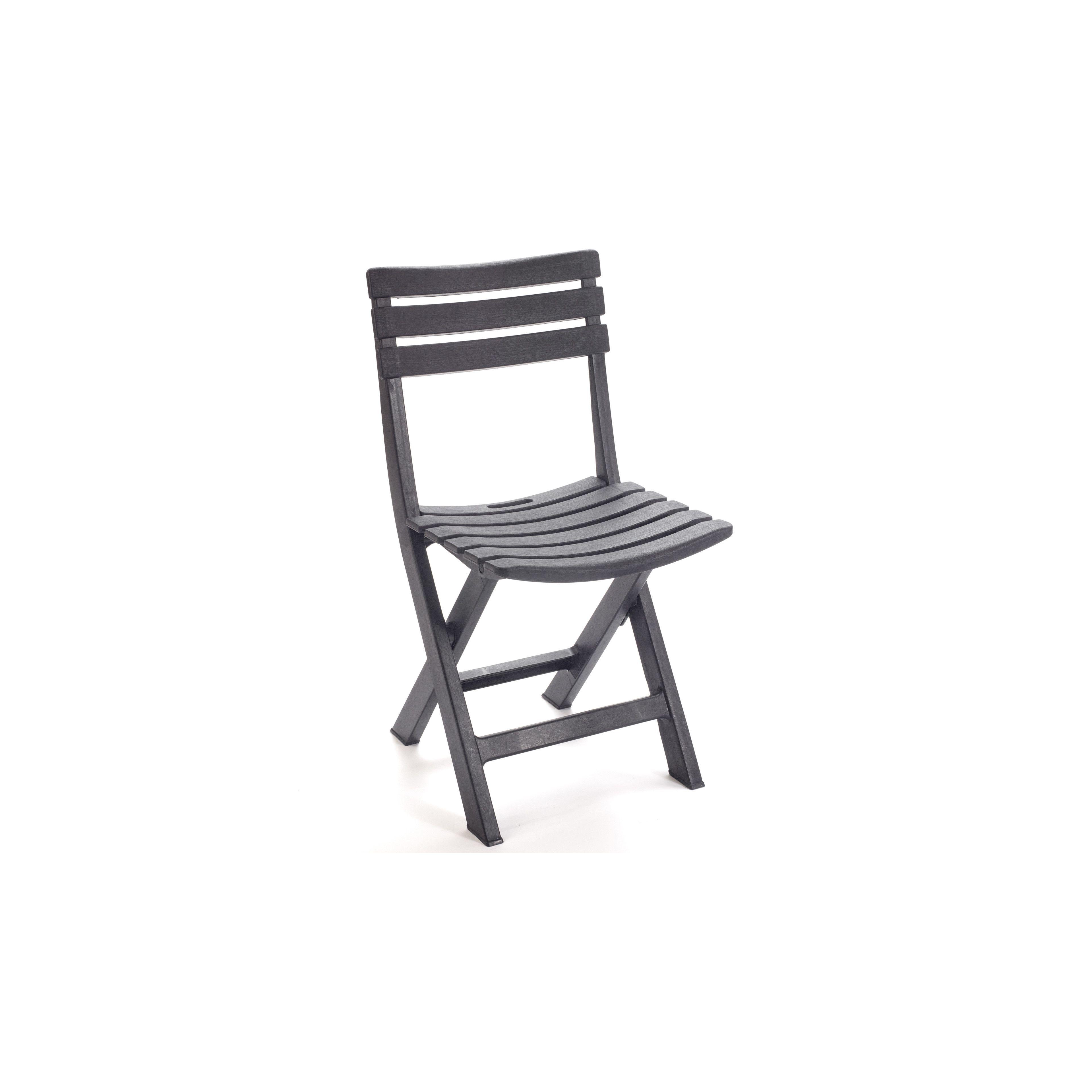 Chaise pliante de jardin en PVC