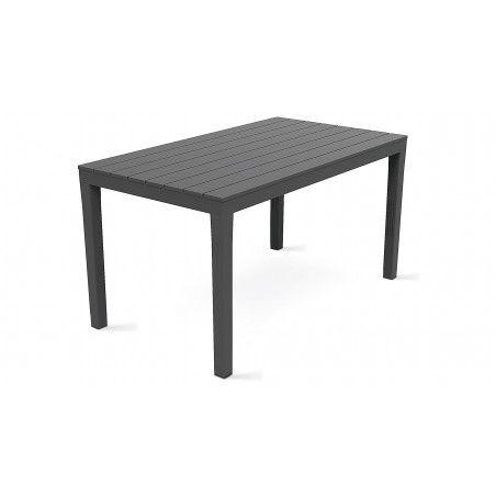 Table de jardin plastique grise
