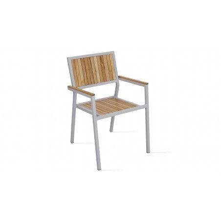 Chaise de jardin bois et alu