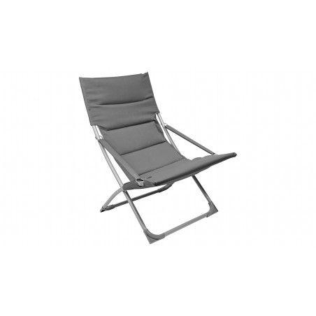 Fauteuil de jardin relax gris