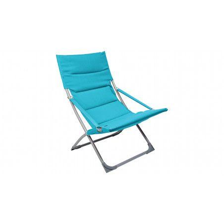 Fauteuil de jardin relax bleu