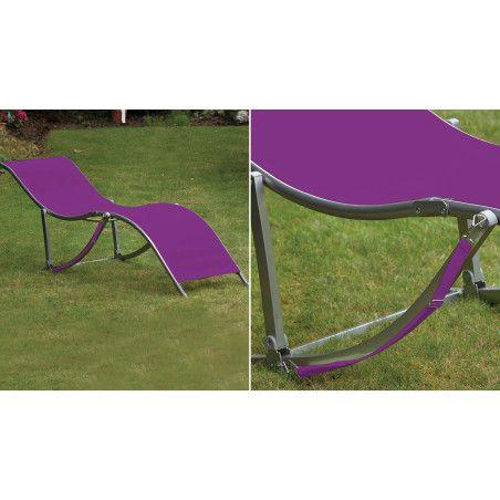 Transat pliable violet Boutique jardin