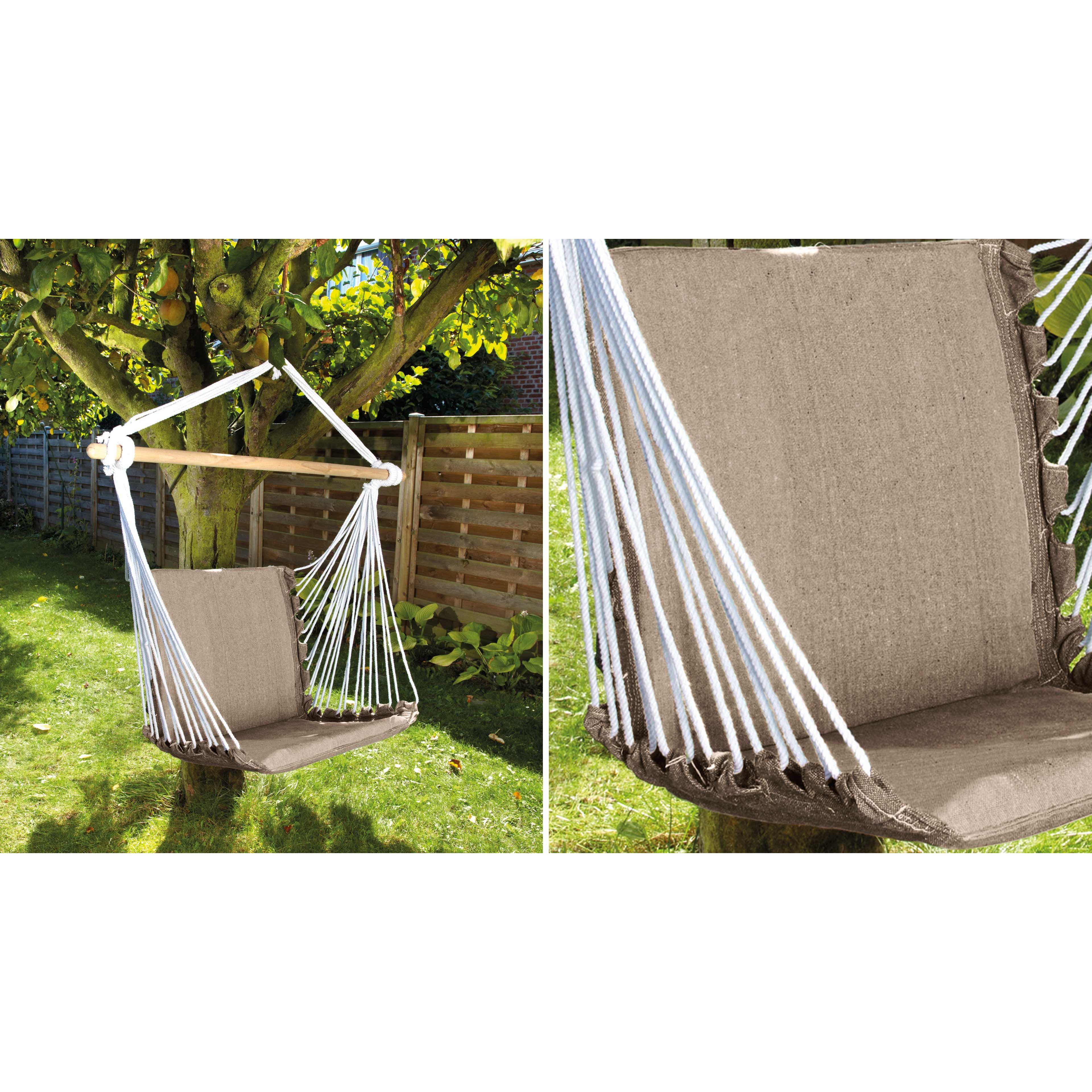 chaise suspendue hamac   oviala