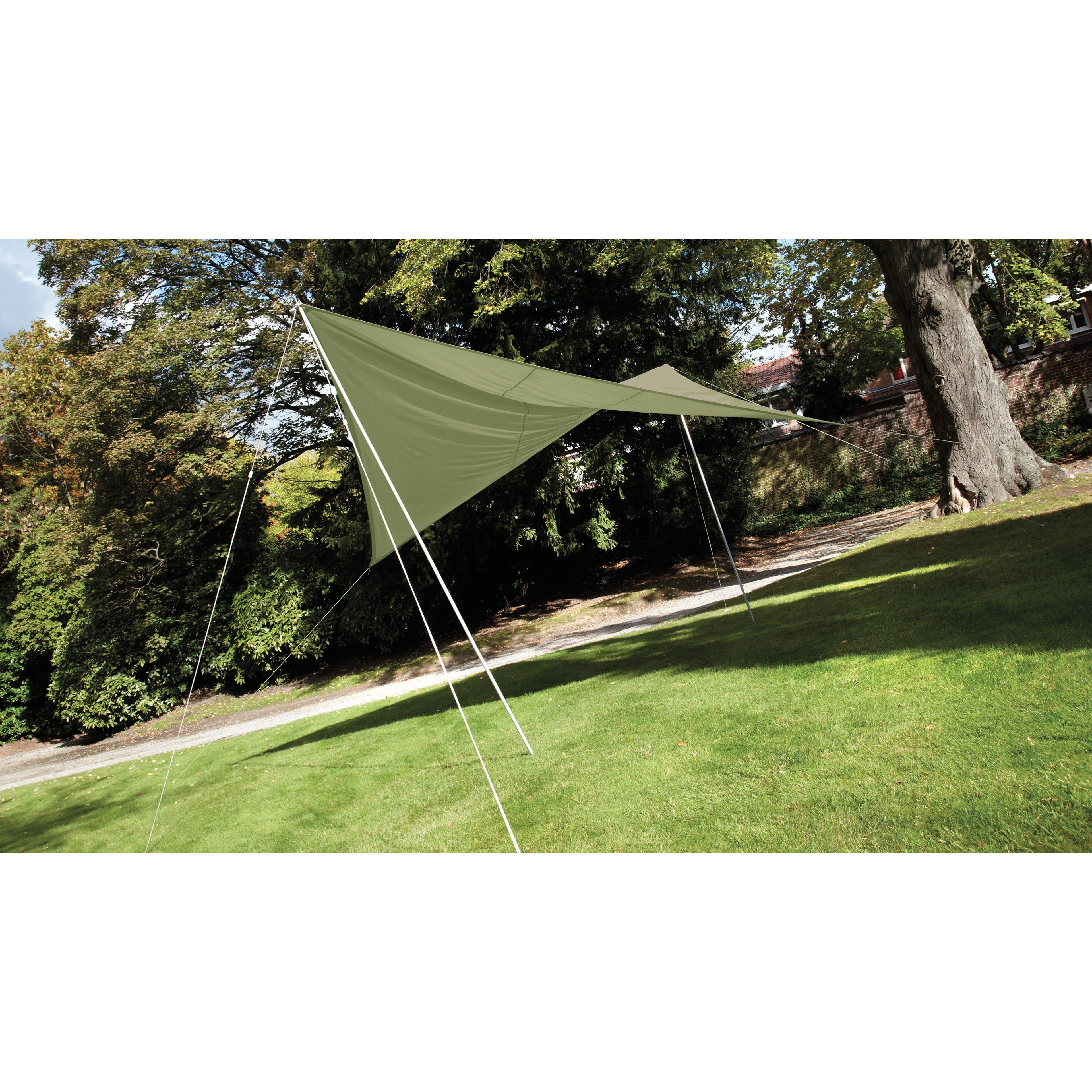 Voile D Ombrage Imperméable voile d'ombrage carrée 3.60m olive | oviala
