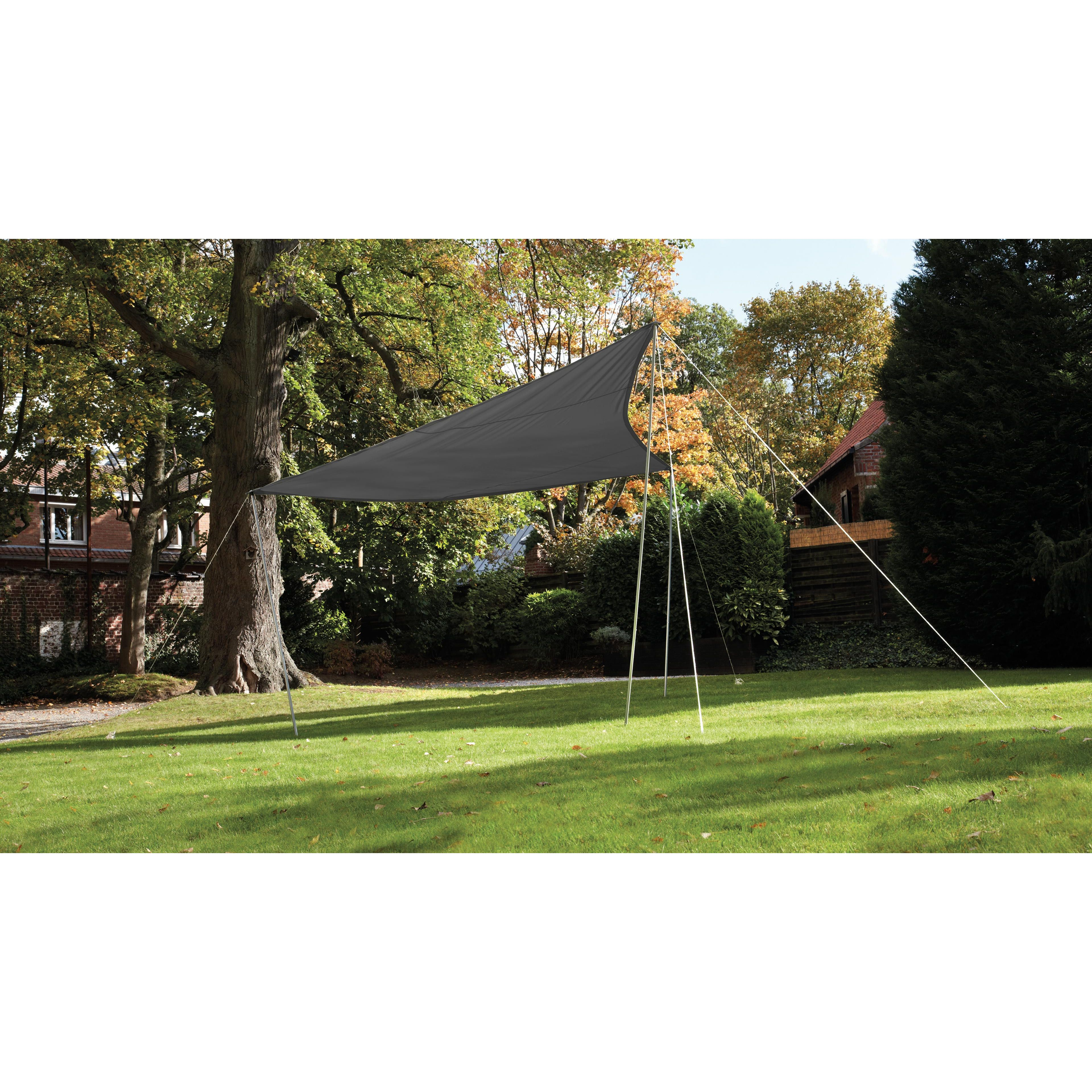 Voile D Ombrage Imperméable voile d'ombrage triangulaire 4.80m grise | oviala