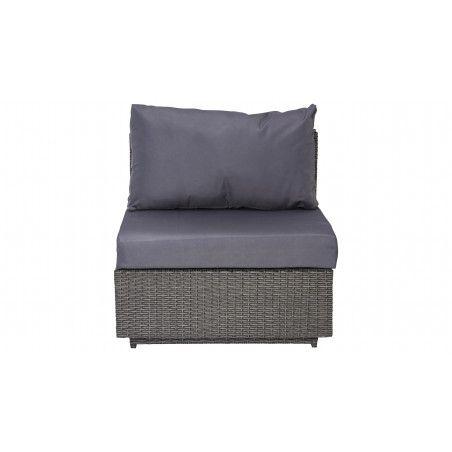 Fauteuil en résine grise coussins gris Boutique jardin