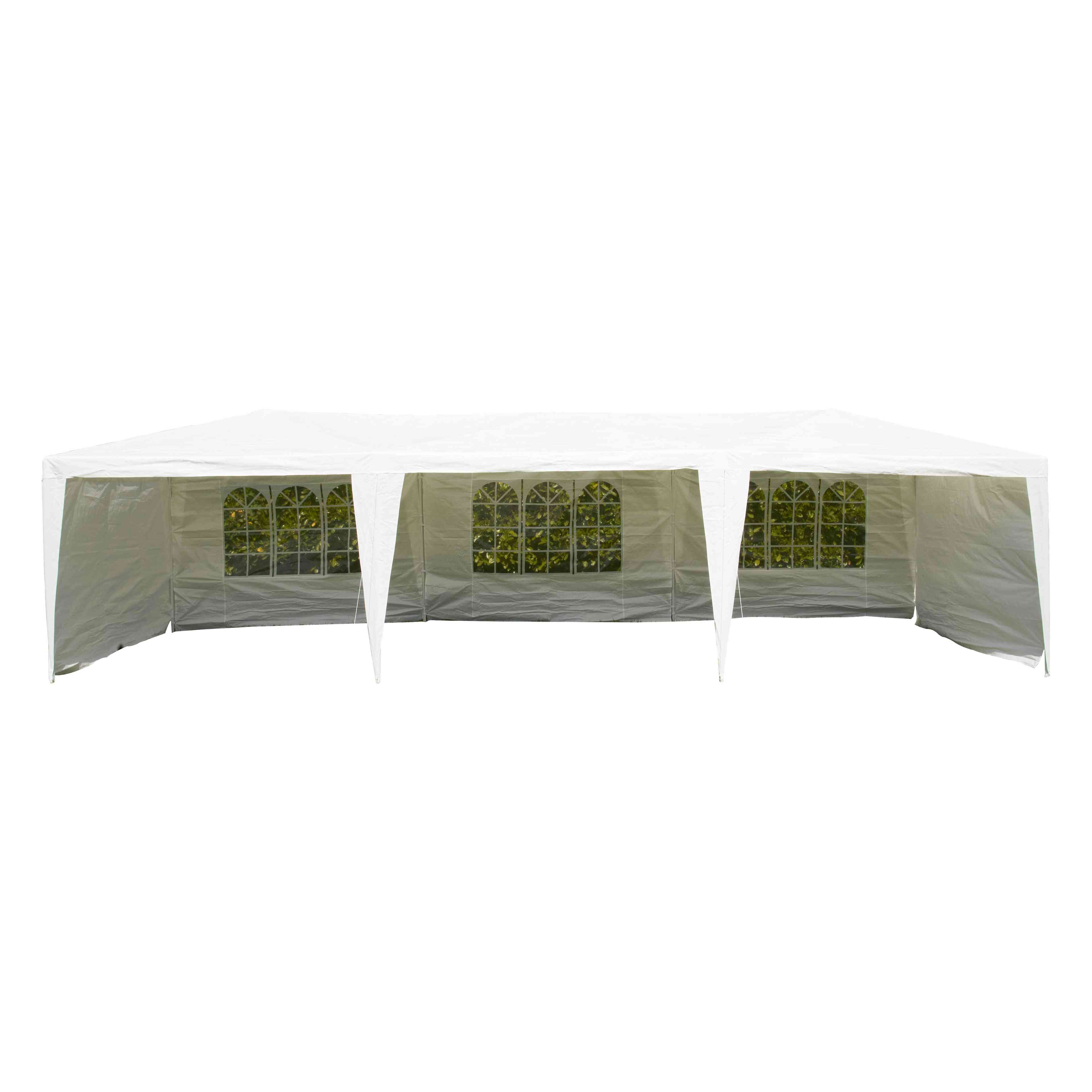 Tente de r ception 3x9m - Toile goudronnee pour abri de jardin ...