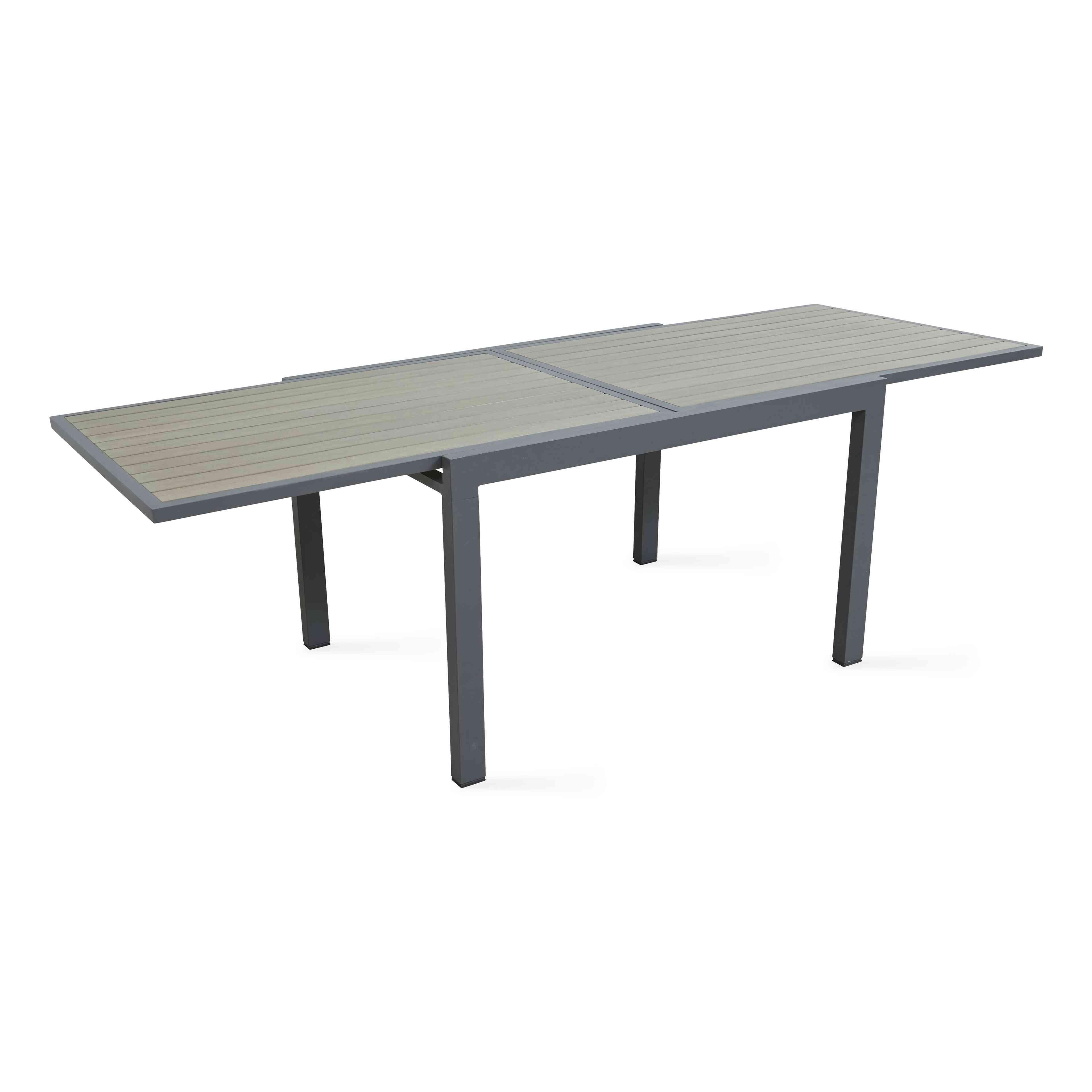 table de jardin rallonge alu et polywood. Black Bedroom Furniture Sets. Home Design Ideas