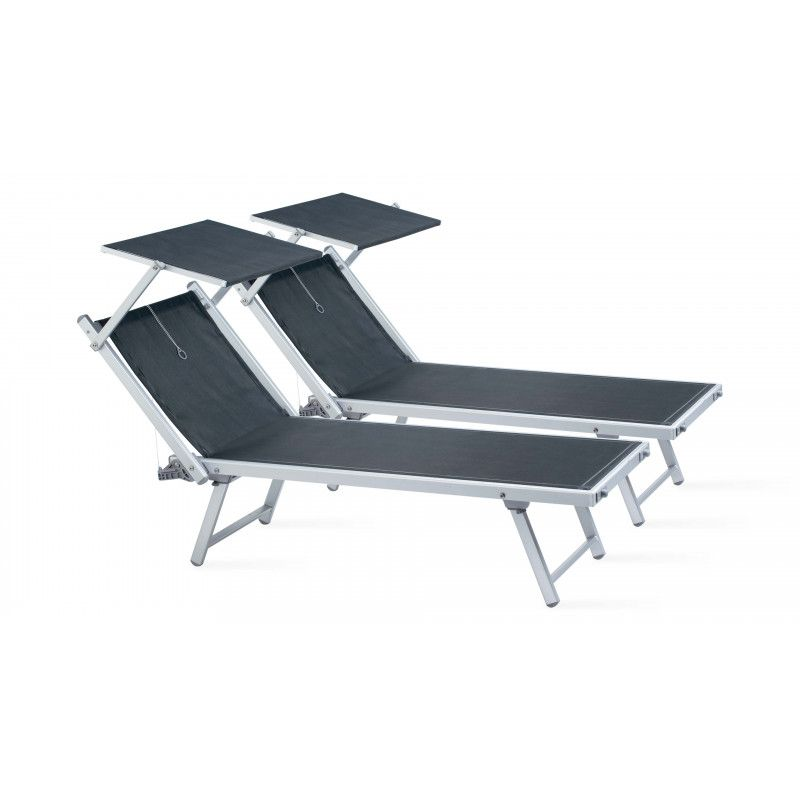 transats lot de 2 chaises longues. Black Bedroom Furniture Sets. Home Design Ideas