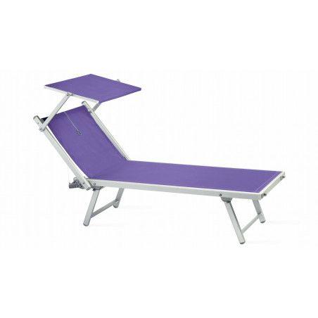 Transats et ombrelle blancs, bain de soleil ombrelle noire Boutique jardin