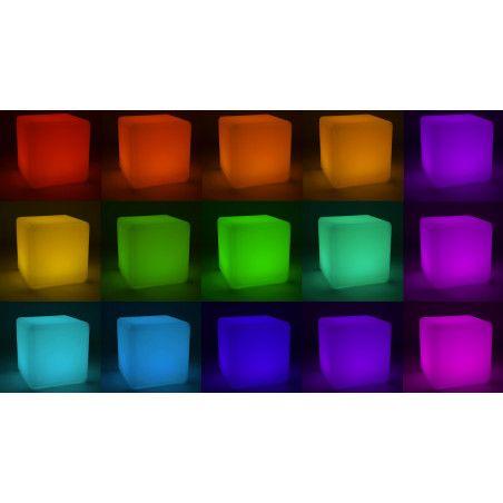 Cube lumineux couleurs Boutique jardin