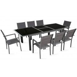 Table de jardin extensible 180/240 cm 8 places