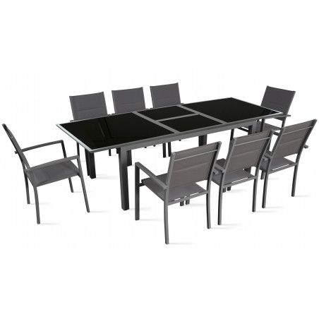 Table de jardin extensible 180/240 cm 8 places