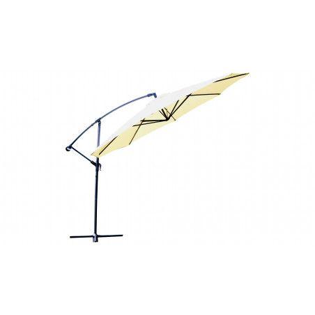 Parasol déporté rond 3,5 m en aluminium