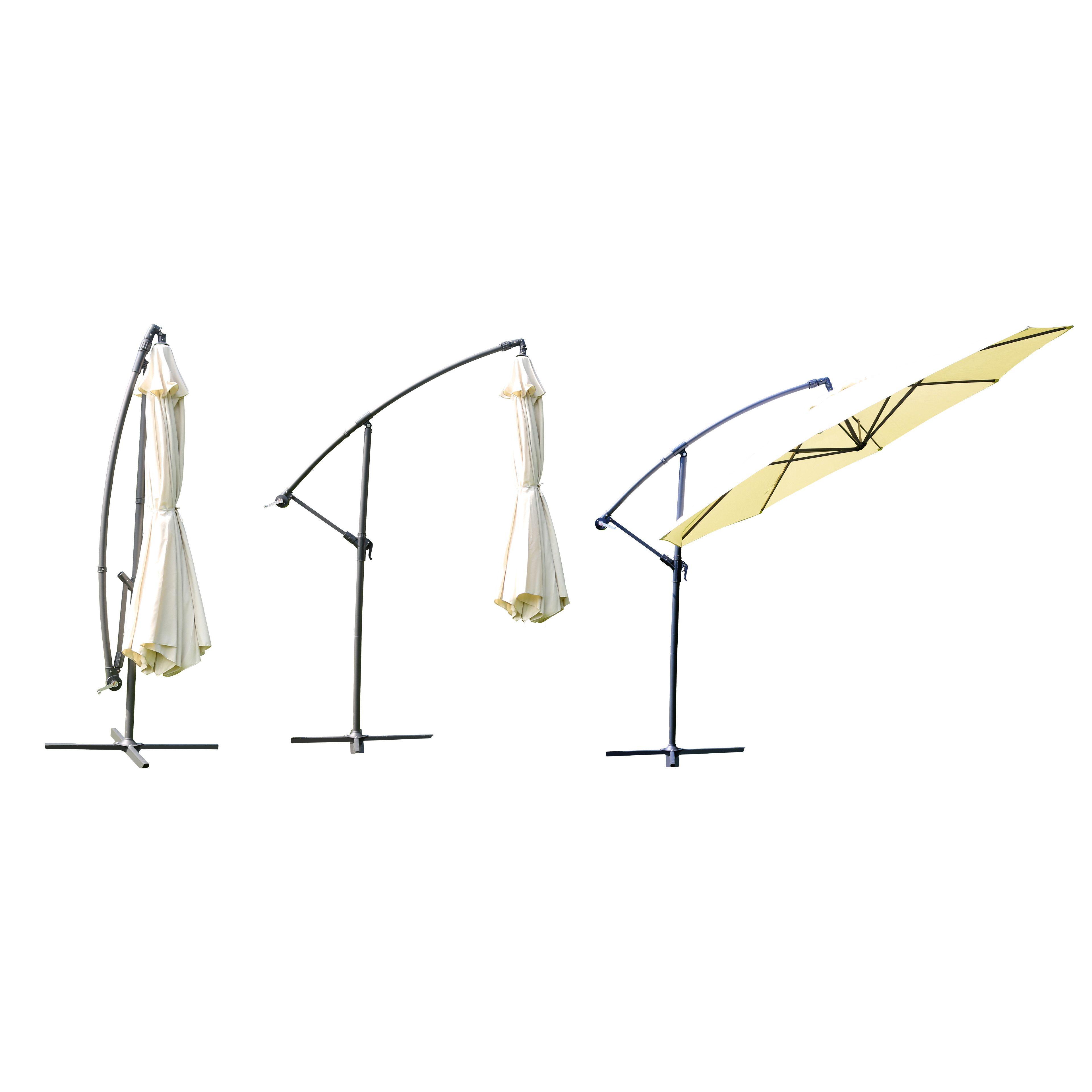 parasol 3 5 meter simple parasol belvedere m round white. Black Bedroom Furniture Sets. Home Design Ideas