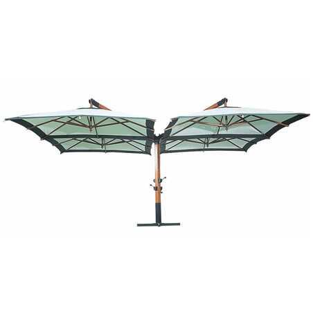 Quadruple parasol déporté