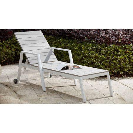 Bain de soleil aluminium et polywood