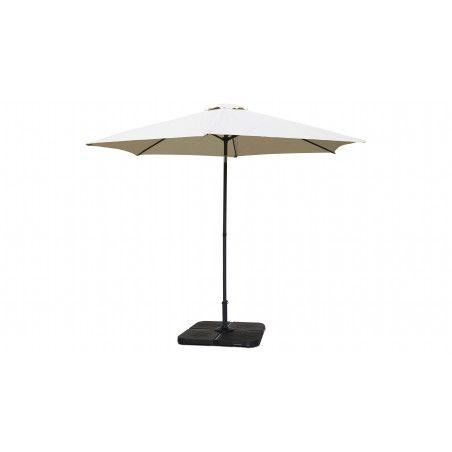 Parasol blanc droit inclinable 3 m