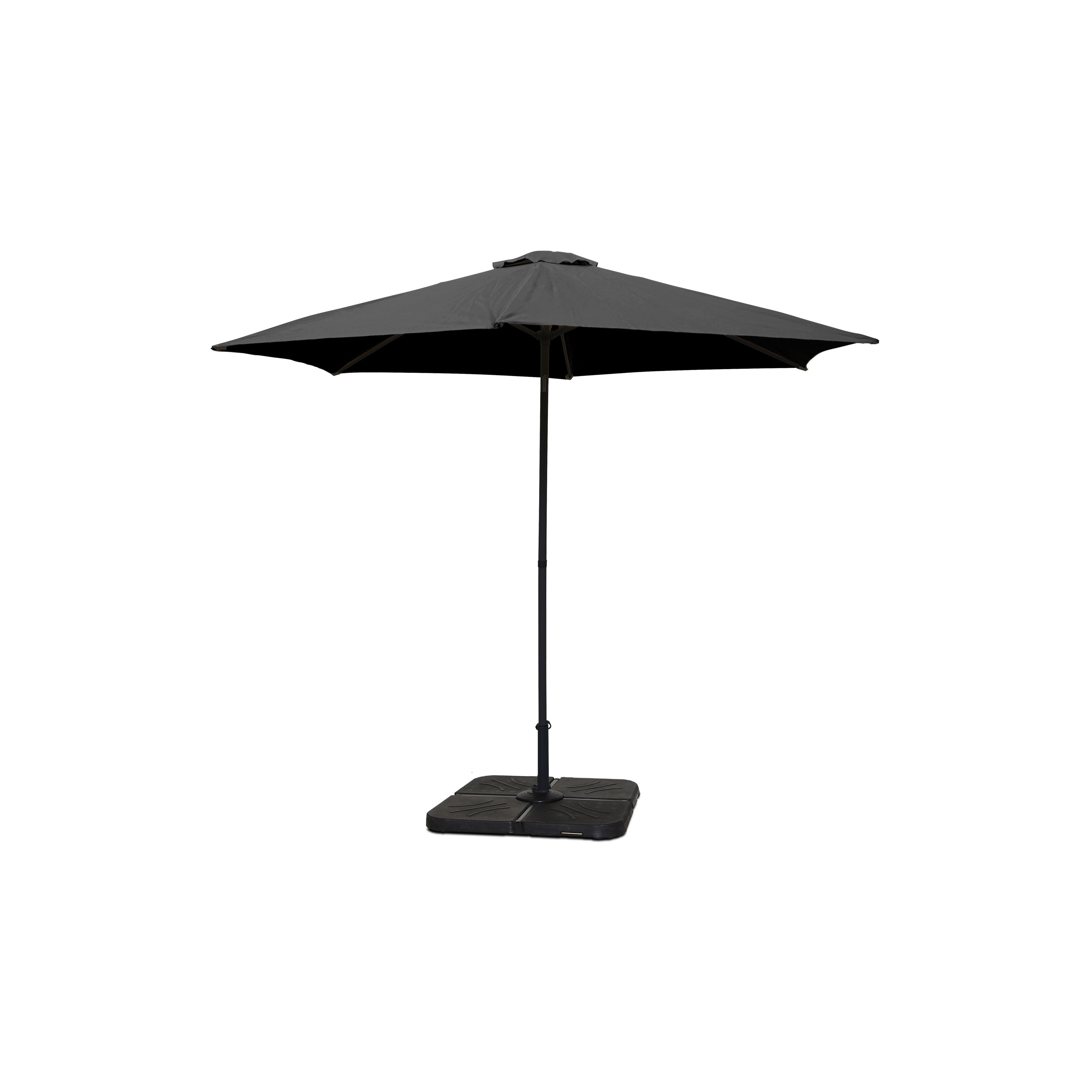 Parasol Droit Inclinable Rond Oviala
