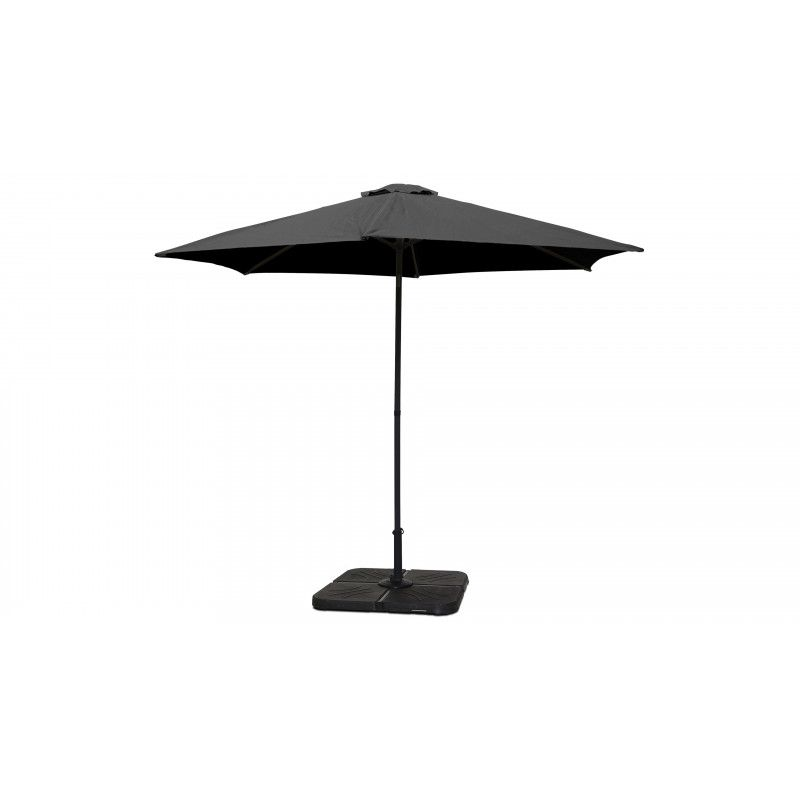 Parasol gris droit inclinable 3 m