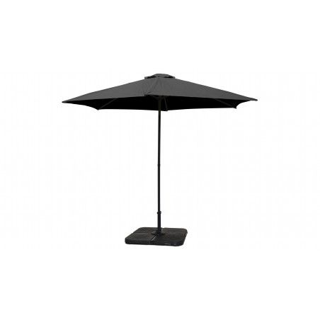 Parasol gris droit inclinable 3 m