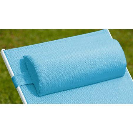 Coussin bain de soleil bleu