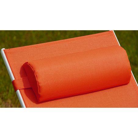 Coussin bain de soleil orange