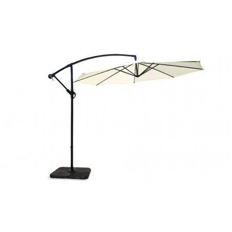 Parasol déporté rond blanc