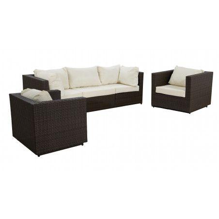 salon de jardin en resine tress e 5 places. Black Bedroom Furniture Sets. Home Design Ideas