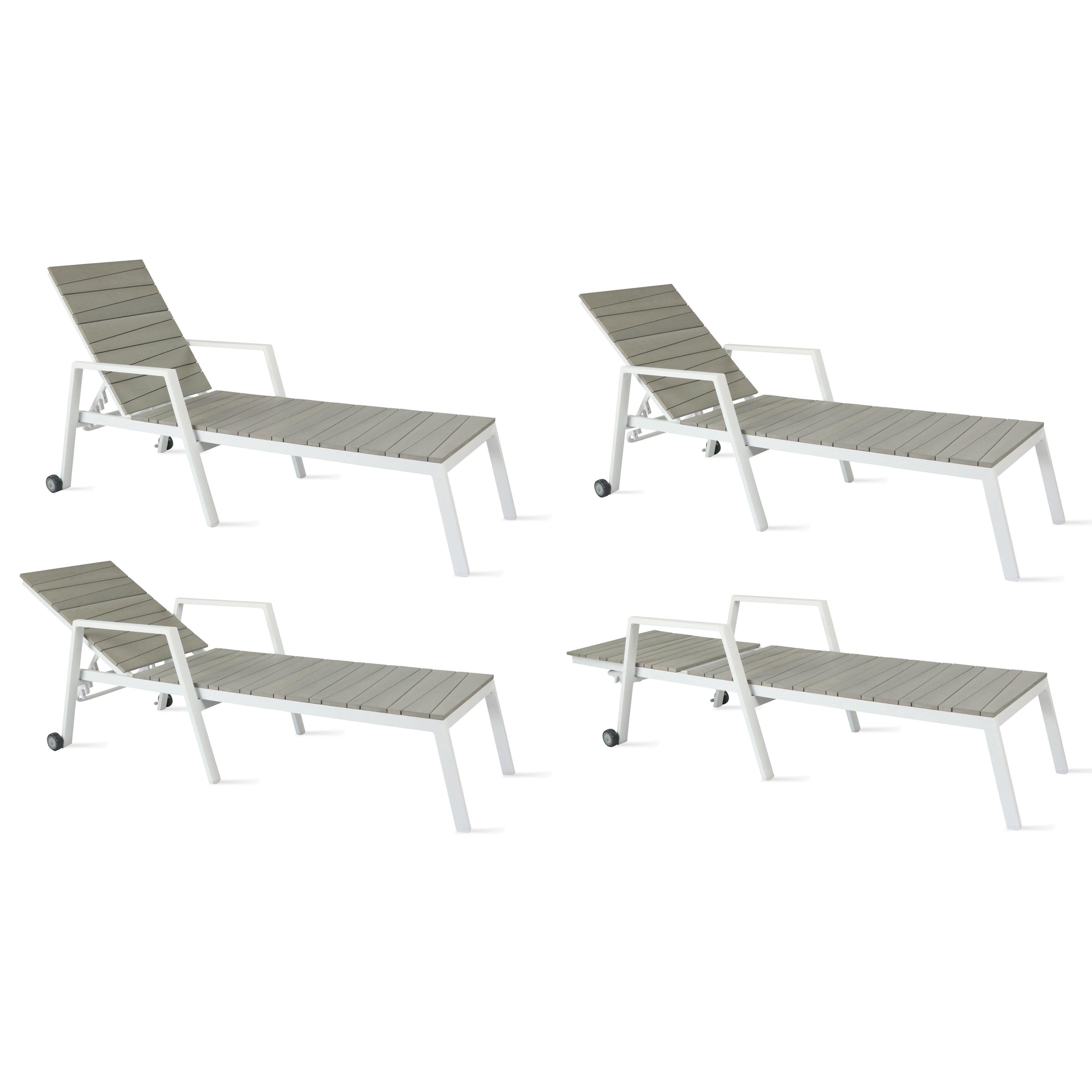 bain de soleil alu et polywood. Black Bedroom Furniture Sets. Home Design Ideas