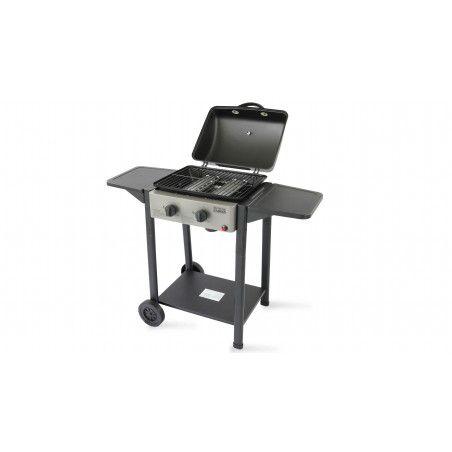 Barbecue à gaz 2 brûleurs avec couvercle