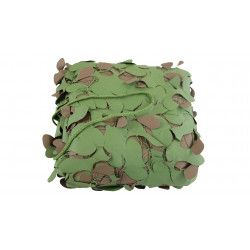 Filet de camouflage avec attache ignifugé - woodland
