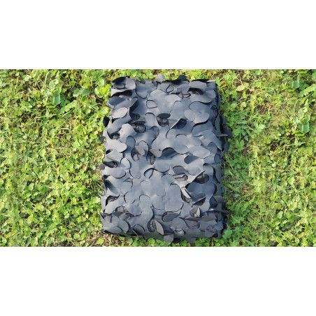 Filet de camouflage avec attache ignifugé - noir