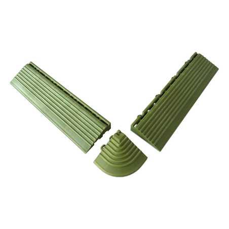 Coins et bordures verts pour dalles clipsables
