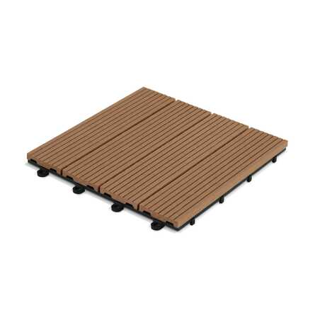 Dalle de terrasse clipsable en bois composite