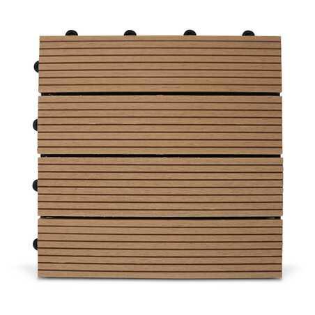Dalle de terrasse clipsable en bois composite