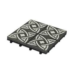 Dalle de terrasse clipsable en carreau de ciment