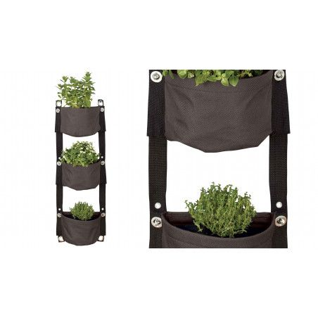 Jardinière de balcon souple grise